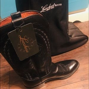 New Lucchese goat skin cowboy boot size 9 D